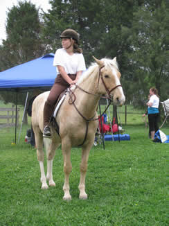 maria at her first horse show